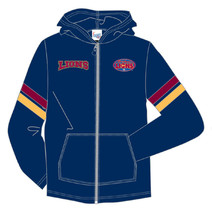 AFL Brisbane Lions Youth Full Zip Hoody