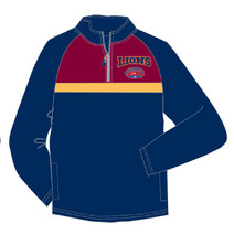 AFL Brisbane Lions Youth 1/4 Zip Polar Fleece Jacket