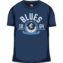 AFL Mens SHD Tee Carlton Blues