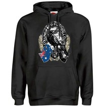 AFL Collingwood Magpies Mens Logo Gel Hoody