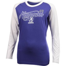 North Melbourne Kangaroos Ladies Printed Long Sleeve Tee Shirt