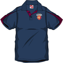 AFL Mens SHD Polo Brisbane Lions