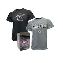 Collingwood Magpies 2014 Men's 2 T-Shirts In A Tin Set