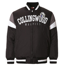 AFL Mens Fan Varsity Jacket Collingwood Magpies