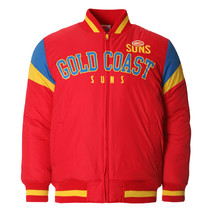 AFL Mens Fan Varsity Jacket Gold Coast Suns