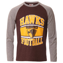 AFL Youth Long Sleeve Tee Hawthorn Hawks