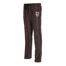 St Kilda Saints Mens Stripe Flannel Pyjama Pant