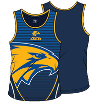 West Coast Eagles 2018 SHD Mens Training Singlet