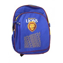 Official AFL Brisbane Lions Youth Backpack