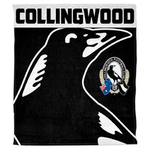 AFL Polar Fleece Rug Collingwood Magpies