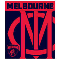 AFL Polar Fleece Rug Melbourne Demons