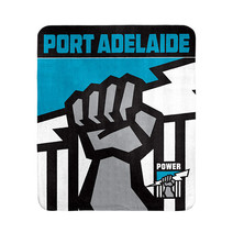 AFL Polar Fleece Rug Port Adelaide Power