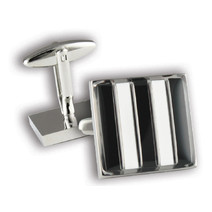 Collingwood Magpies Official AFL Coloured Cufflinks