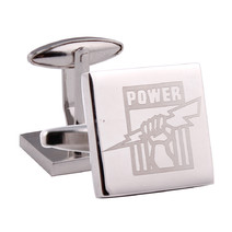 Port Adelaide Power Official AFL Silver Cufflinks