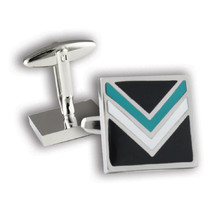 Port Adelaide Power Official AFL Coloured Cufflinks