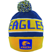 West Coast Eagles Bar Beanie