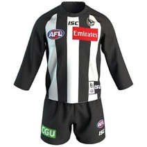 Collingwood Magpies 2019 AFL Toddler  L/S Guernsey Set