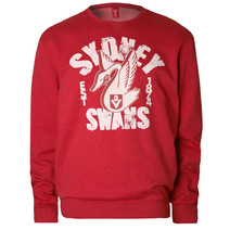 Sydney Swans Mens Crew Neck Sweater