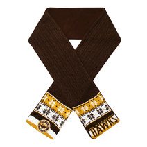AFL Adult Cable Scarf Hawthorn Hawks