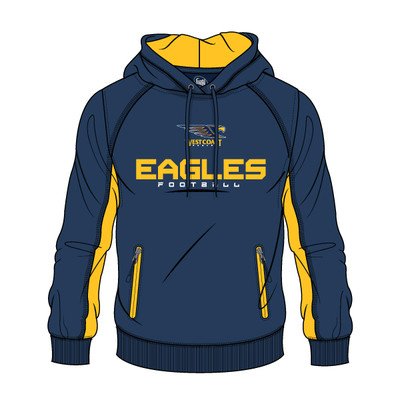 AFL Men's SHD Premium Hood West Coast Eagles [Size: S]