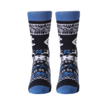 AFL Youth Ugly Xmas Socks Carlton Blues