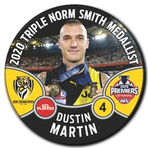 2020 Premiership Norm Smith Badge - Dustin Martin