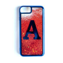 Adelaide Crows AFL TYPO Iphone Shake It Glitter Case