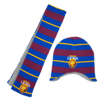 Toddlers Beanie & Scarf Pack Brisbane Lions