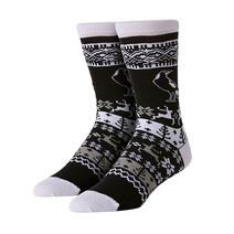AFL Youth Ugly Xmas Socks Collingwood Magpies