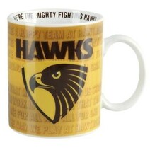 Hawthorn Hawks 11oz Team Song Mug