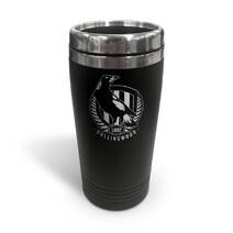 AFL S/Steel Travel Mug Collingwood Magpies