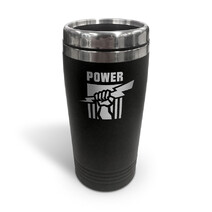 AFL S/Steel Travel Mug Port Adelaide Power