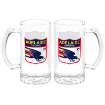 Adelaide Crows AFL First 18 Stein Glass