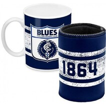AFL Mug & Can Cooler Pk Carlton Blues