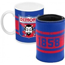 AFL Mug & Can Cooler Pk Melbourne Demons