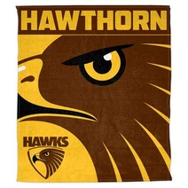 AFL Polar Fleece Rug Hawthorn Hawks