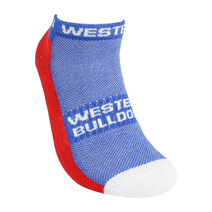 AFL 2pk ankle socks Western Bulldogs