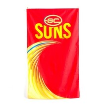 AFL Supporter Wall Flag 90X150 Gold Coast Suns