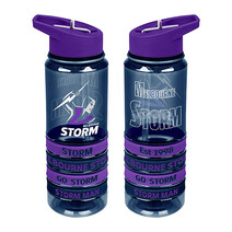 Melbourne Storm NRL Tritan Bottle w/Wrist Bands