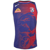 Western Bulldogs Training Singlet Blue 2015